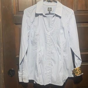1X button down long Sleeves white with blue stripe